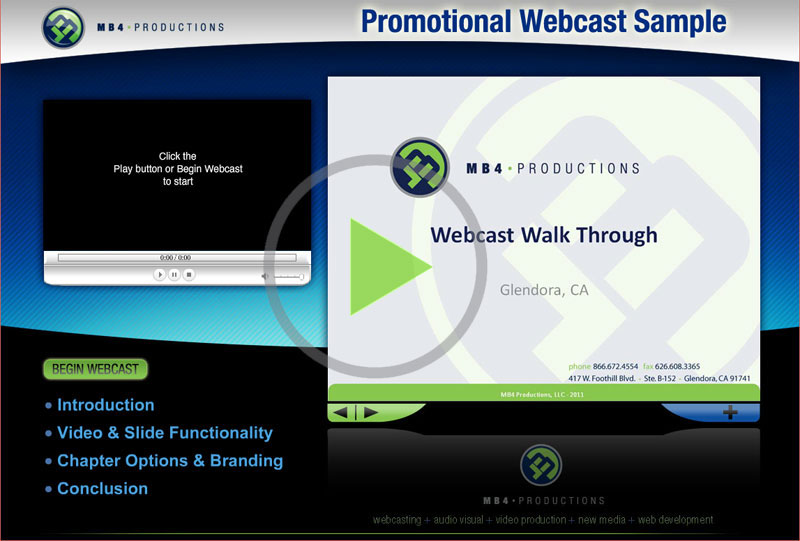 promotional webcast sample